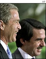 George Bush and Jose Maria Aznar