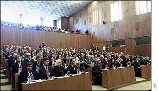 The Kosovo parliament convenes for the first time