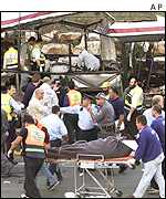Aftermath of Haifa bus bombing