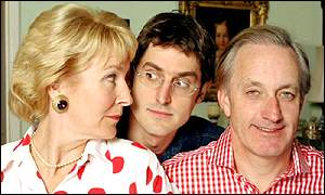 Louis Theroux with Neil and Christine Hamilton