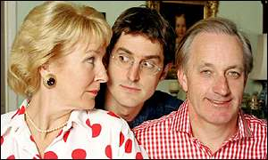 Neil and Christine Hamilton with Louis Theroux