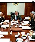President Bush's security cabinet meets