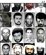 Most wanted terror suspects
