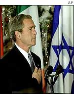 President Bush at the ceremony in the White House