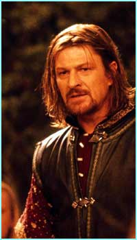 Boromir played by Sean Bean