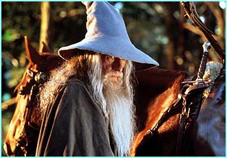 Gandalf played by Sir Ian McKellan