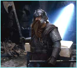Gimli played by John Rhys-Davies