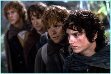 Dominic Monaghan, Billy Boyd, Sean Astin and Elijah Wood