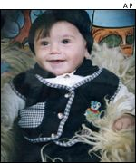 Three-year-old Burhan al-Himouni killed on Monday