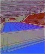 A computer plan of the new national pool in Swansea