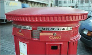 Sealed post box