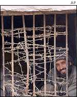 Taleban prisoner in northern Afghanistan