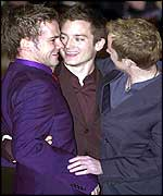 Elijah Wood, a.k.a. Frodo, and fellow stars at the Lord of the Rings premiere