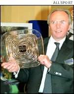 Sven Goran Eriksson receives the UK Coach of the Year Award