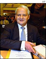 Australian Immigration Minister Philip Ruddock at Geneva conference