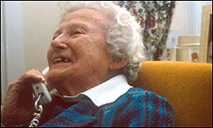 Elderly lady on the telephone