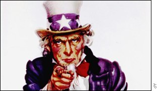 First World War Recruitment poster showing Uncle Sam