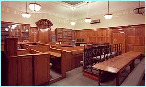 Inside Bow Street magistrates' court