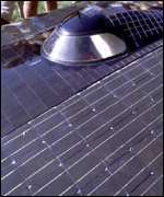 Solar array on car   BBC