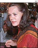 Sonia Gandhi, leader of the opposition