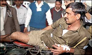 Wounded policeman