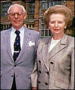 Dennis and Margaret Thatcher