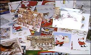 Christmas cards, BBC