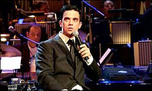 Robbie Williams at the Albert Hall