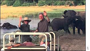 Bill Clinton on Safari in Botswana