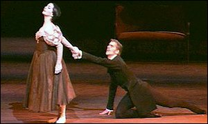 Tamara Rojo and Adam Cooper as Tatiana and Onegin (Cooper played Prince Gremin in the production reviewed)