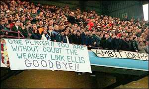 Villa fans have mounted protests against Doug Ellis before