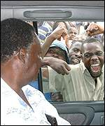 Michael Sata and supporters
