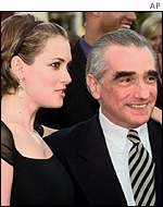 Winona Ryder and Martin Scorsese