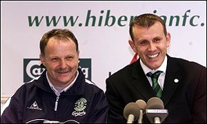 Park and Sauzee are unveiled at Easter Road