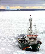 Greenpeace ship MV Arctic Sunrise in the Antarctic
