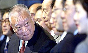 HK Chief Executive Tung Chee-hwa with supporters