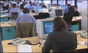 ITV Digital call centre in Plymouth