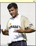 Indian skipper Sourav Ganguly