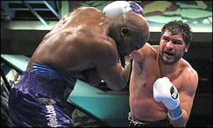 John Ruiz pictured during his bout against Evander Holyfield