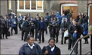 Playgroujd of Raine's Foundation School in east London