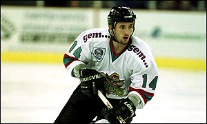 Kevin Riehl of the Belfast Giants