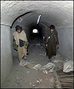 Tunnels belonging to Mullah Omar