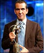 Paolo Di Canio receives his award in Zurich