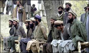 The group of foreign al-Qaeda fighters paraded before the cameras in the Tora Bora