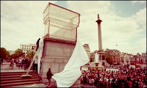 Rachel Whiteread's is place on the spare plinth at Trafalgar Square