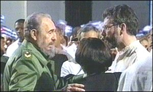 Gerry Adams and Fidel Castro expected to meet again on Tuesday