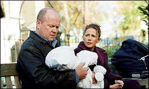 Lucy Benjamin and Steve McFadden in EastEnders