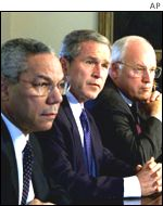 Colin Powell, George Bush, Dick Cheney