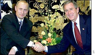 President Putin of Russia and US President Bush