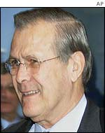 US Secretary of Defence Donald Rumsfeld